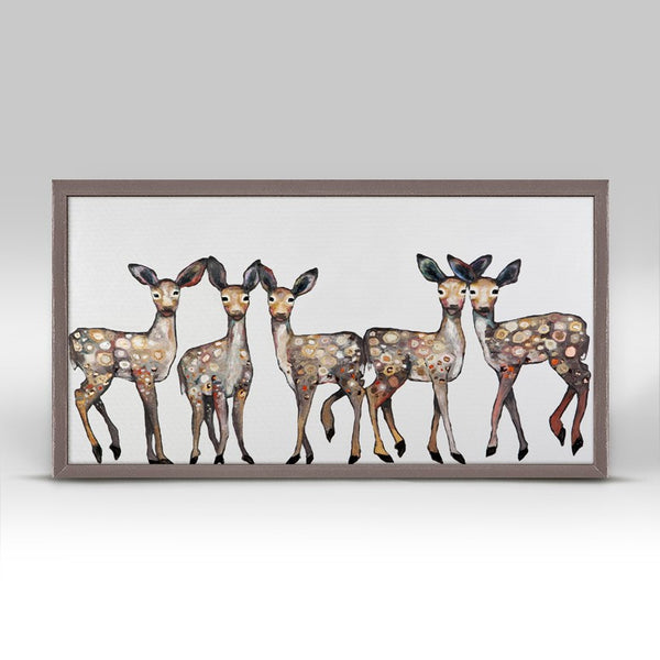 "5 Dancing Fawns Mini Print 10"" x 5"""