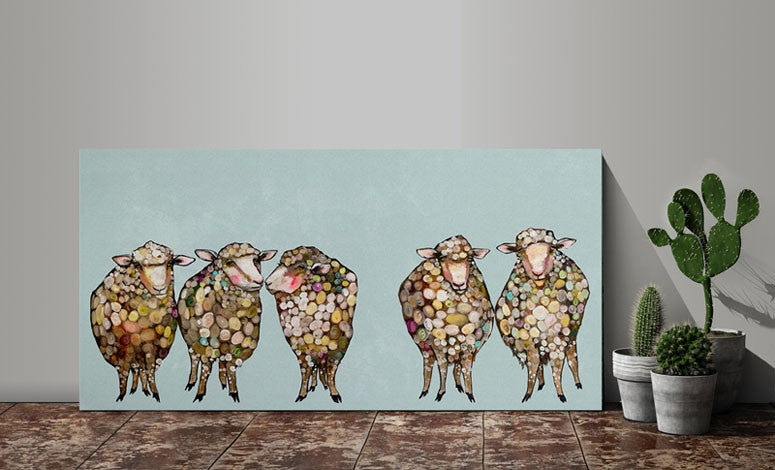 5 Woolly Sheep - Giclée Print