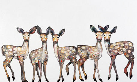fawns baby nursery art print