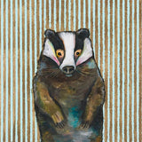 badger nursery baby wall art print