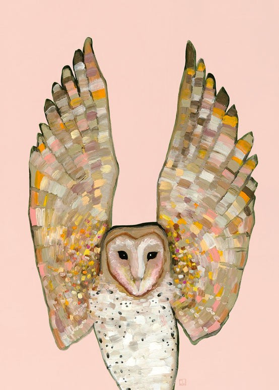 Owl baby nursery wall art print