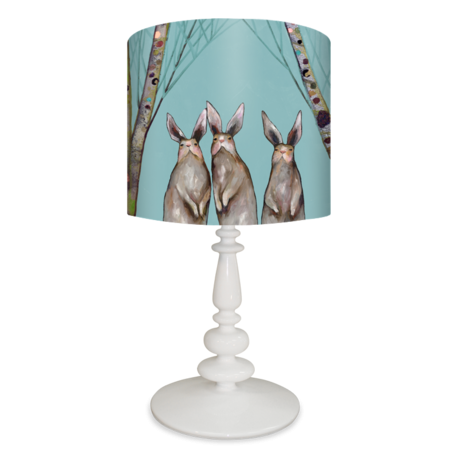 Brown Bunnies in the Forest - Lamp Reproduction