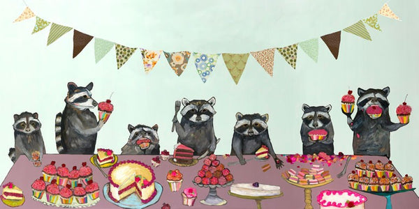 Cupcake Party  - Signed Large Giclée Canvas Print For Austin Tx Delivery Only