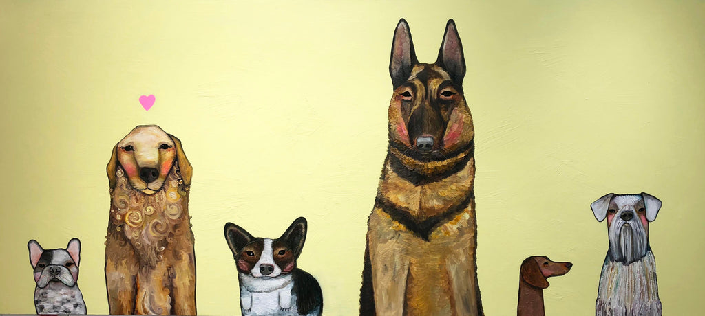 Dogs - Oil Painting