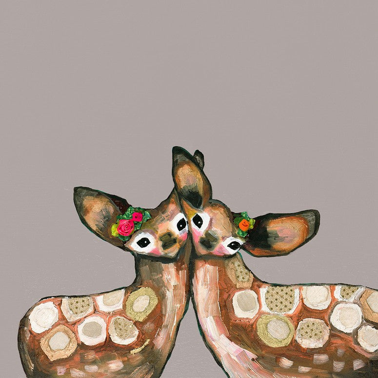 Fawn Duo in Neutral - Giclée Print