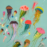 Floating Jellyfish Aqua - Giclée Print