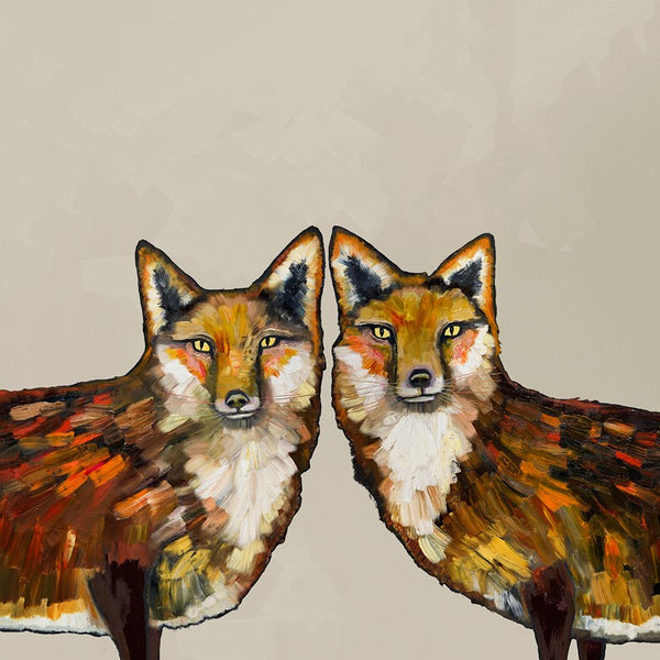 Fox Duo Cream - Giclée Print