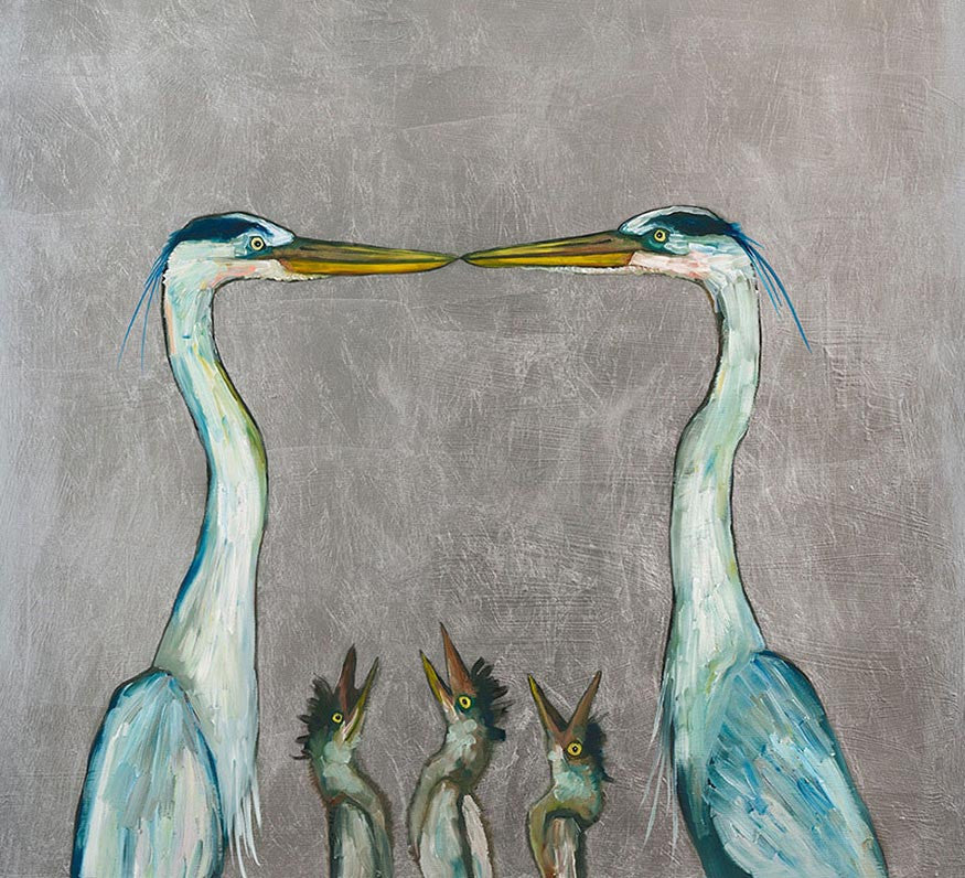 Great Blue Heron Family - Giclée Print
