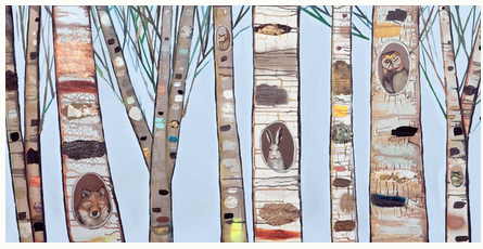 Ice Blue Birch Trees  - Giclée Print