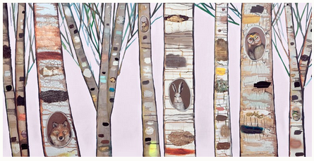 Light Pink Birch Trees - Giclée Print