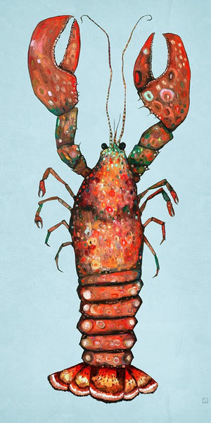 Lobster on Blue - Giclée Print