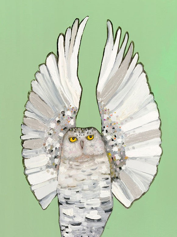 Owl Ballet Light - Giclée Print
