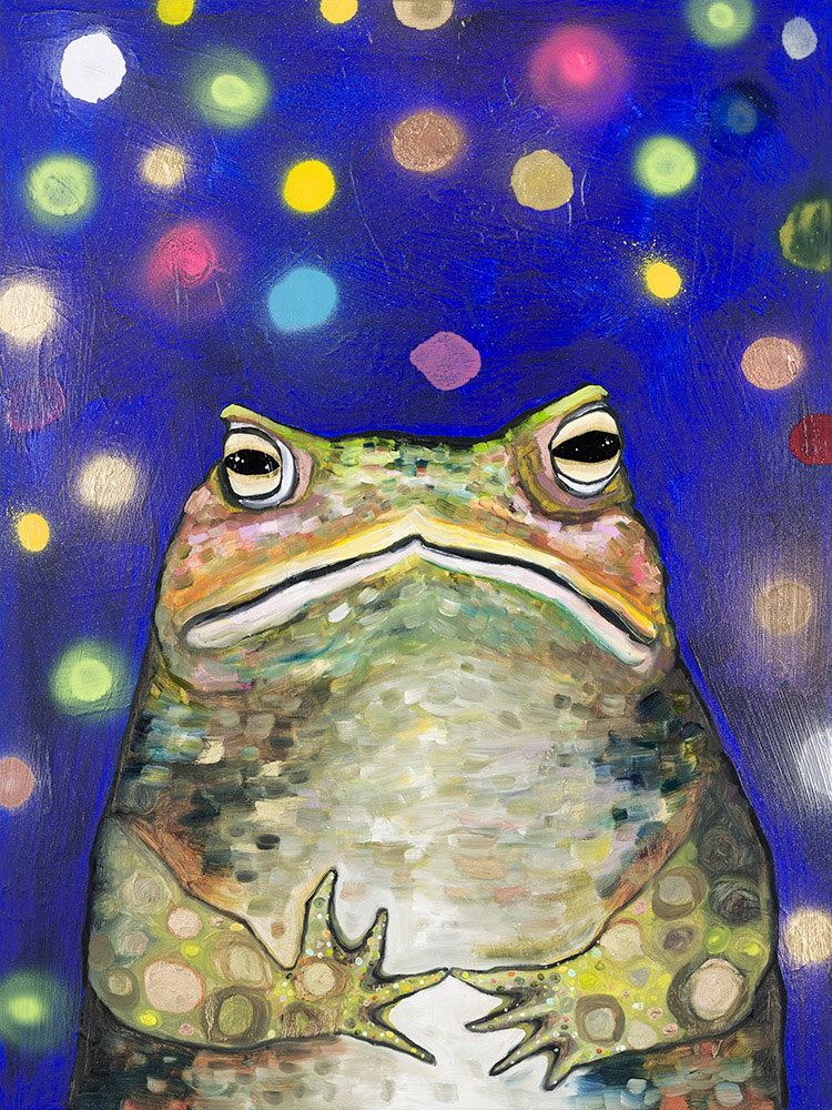 Toad With Fireflies - Giclée Print
