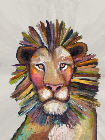 Wild Lion on Cream - Giclée Print
