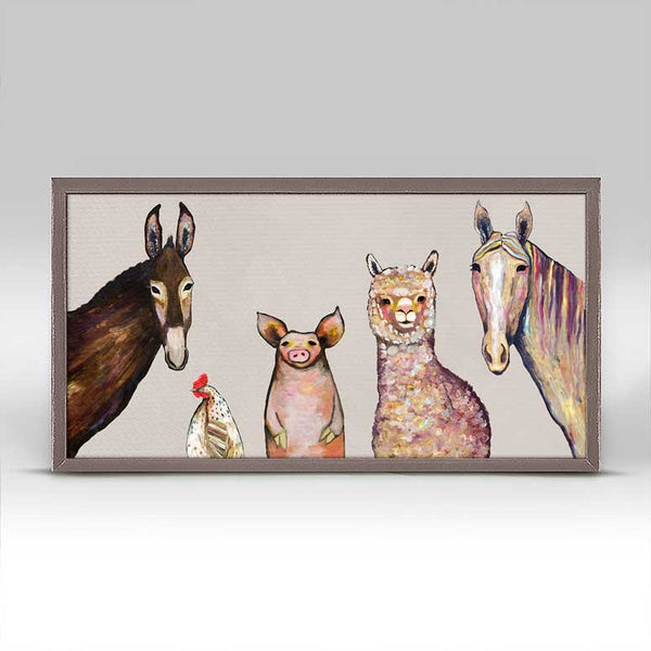"Alpaca and Pals Neutral Mini Print 10"" x 5"""