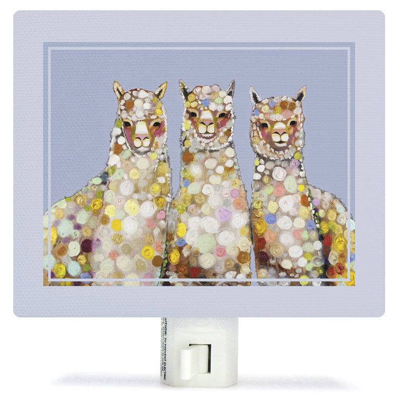 Alpaca Trio Night Light