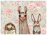 Baby Llama and Friends - Giclée Print