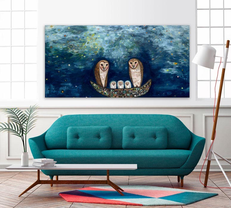 Barn Owl Treasure Nest - Giclée Print