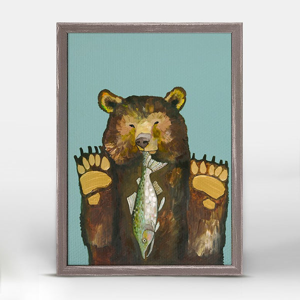 "Bear With Salmon Mini Print 5"" x 7"""