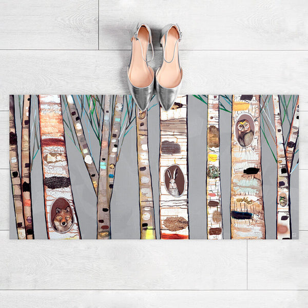 "Birch Trees Floorcloth 40"" x 20"""