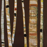 Birch Trunks on Chocolate - Giclée Print