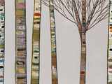 Birch Tree Branches on Light Grey - Giclée Print