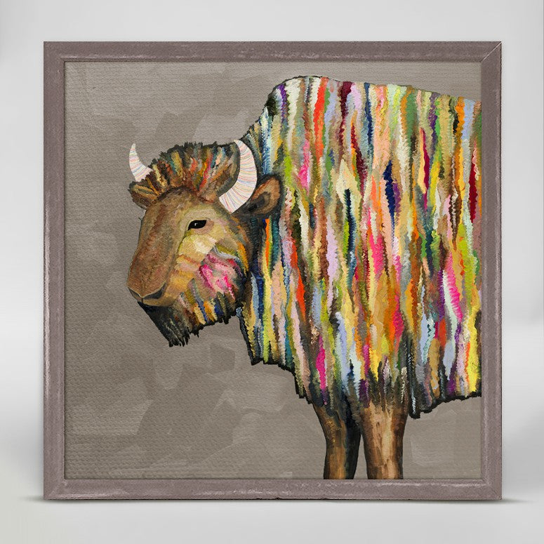 "Bison on Putty Mini Print 6"" x 6"""