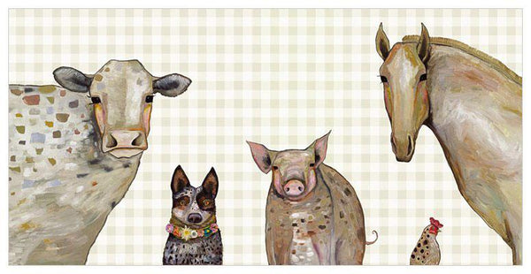 Cattle Dog and Crew in Plaid - Giclée Print