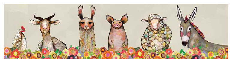 Blooms Farm Friends - Giclée Print