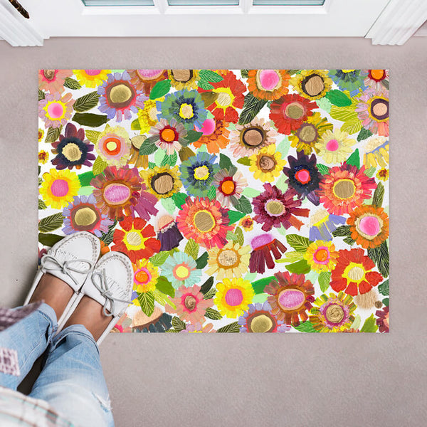 "Blooms Small Floorcloth 30"" x 22.5"""