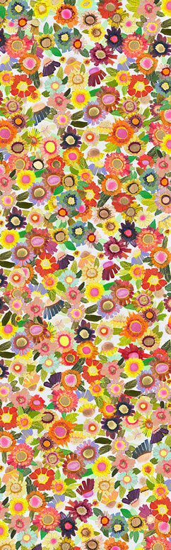 "Blooms Floorcloth 30"" x 96"""