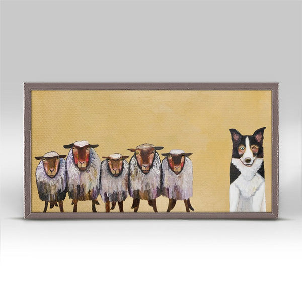 "Border Collie and Crew Mini Print 10"" x 5"""