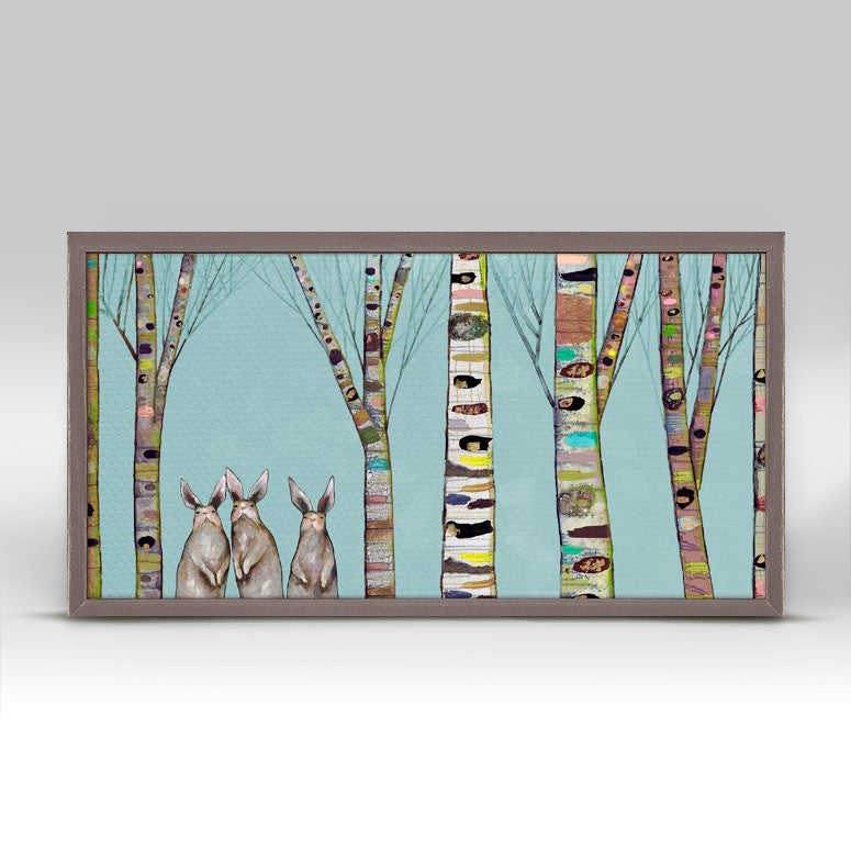 "Bunnies in the Woods Mini Print 10"" x 5"""