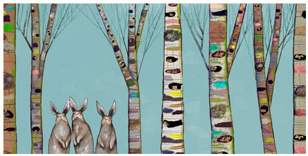 Bunnies in the Woods - Giclée Print