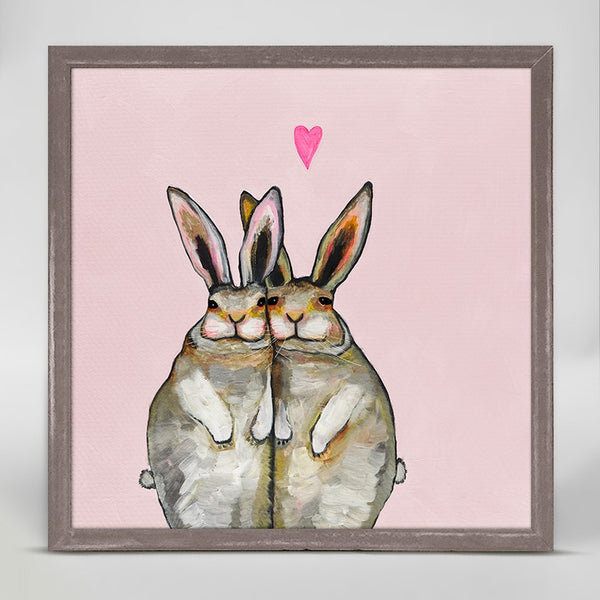 "Bunny Friends - Pale Pink Mini Print 6"" x 6"""