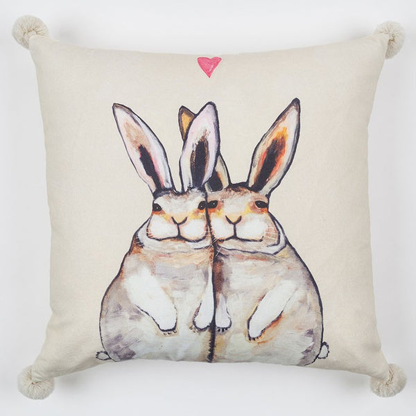 "Cuddle Bunnies - Pillow 20"" x 20"""