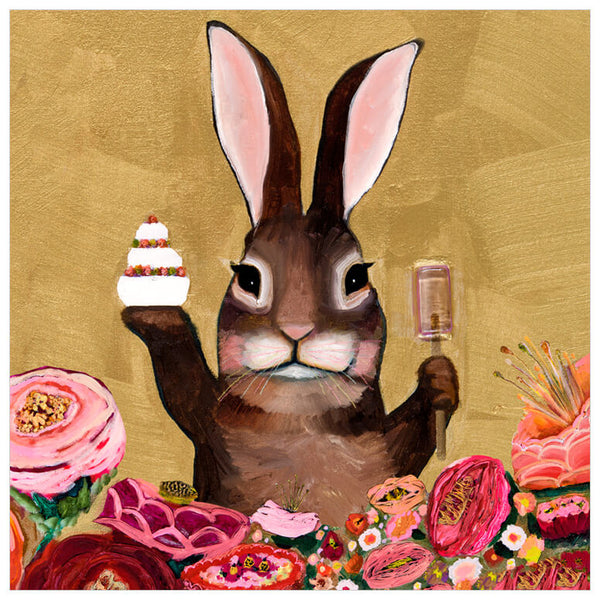Carrot Cake Bunny With Sweets - Giclée Print