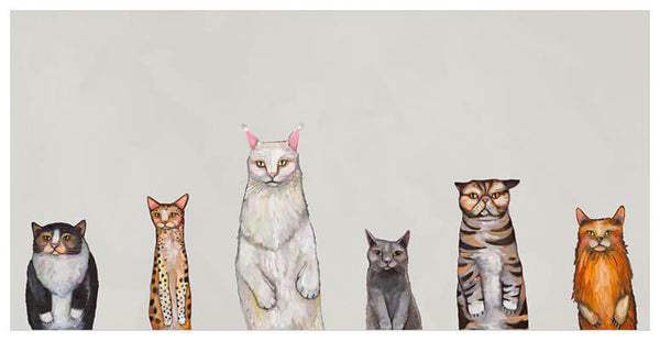 Cats Cats Cats in Gray - Giclée Print