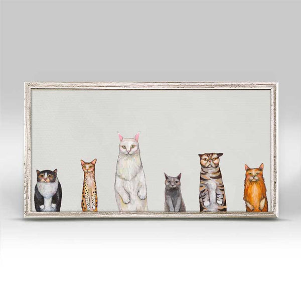 "Cats Cats Cats Gray Mini Print 10"" x 5"""