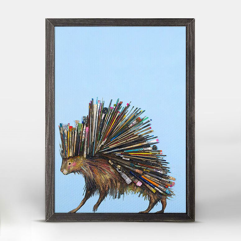 "Paintbrush Porcupine Mini Print 5"" x 7"""