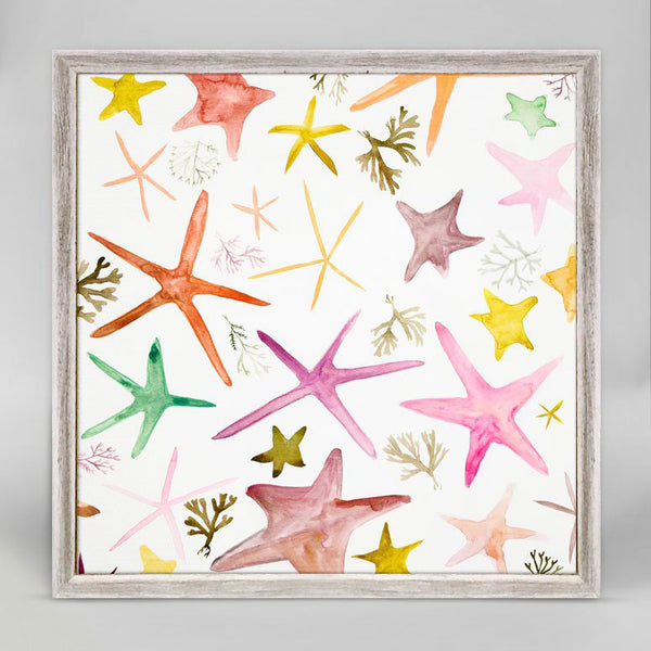 "Colorful Starfish Mini Print 6"" x 6"""