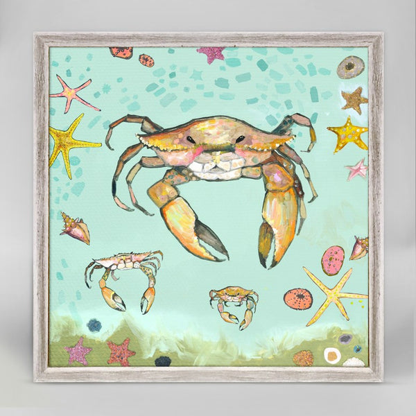 "Crabs Trio Mini Print 6"" x 6"""
