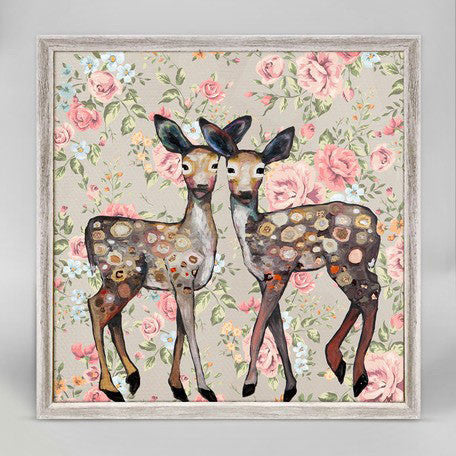 "Dancing Deer Floral Mini Print 6"" x 6"""