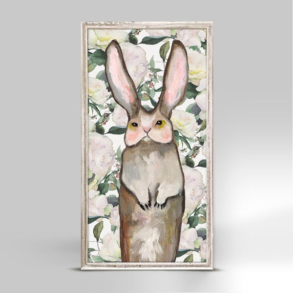 "Forest Bunny Floral Mini Print 5"" x 10"""
