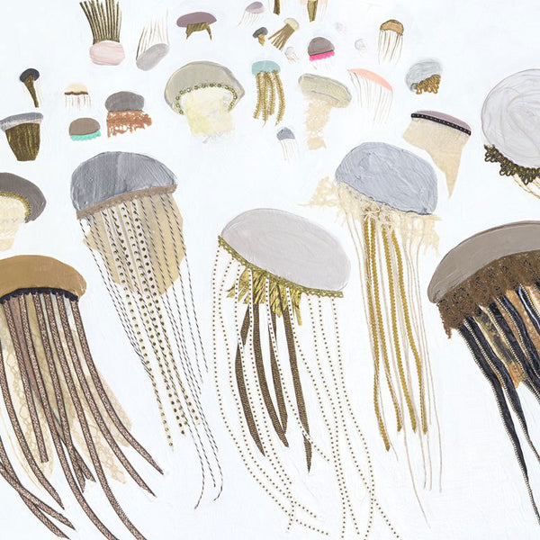 Jellyfish in White - Giclée Print