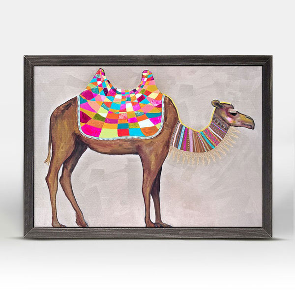 "Camel With Ribbons & Lace Mini Print 7"" x 5"""