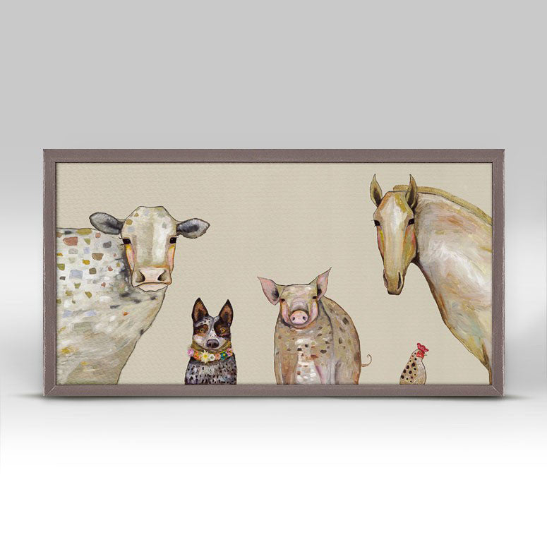 "Cattle Dog and Crew Mini Print 10"" x 5"""