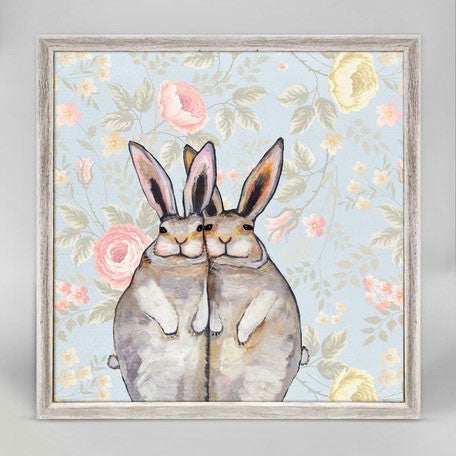 "Bunny Friends Floral - Mini Print 6"" x 6"""