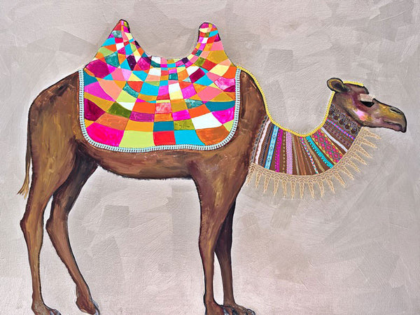 Camel With Ribbons & Lace - Giclée Print