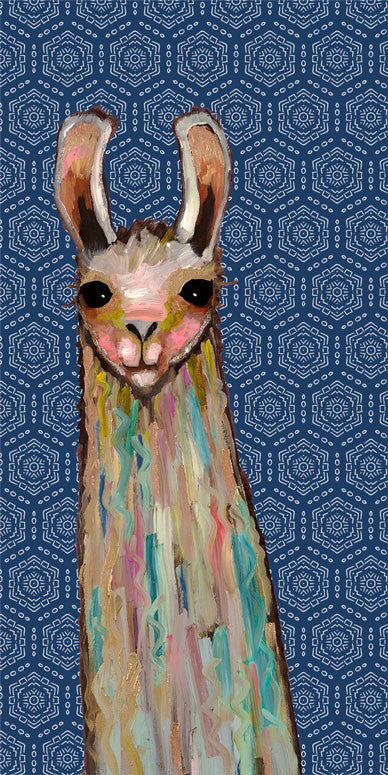 Baby Llama in Lace - Giclée Print